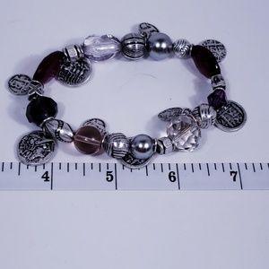 Premier Designs Jewelry - Passionista Purple and Silver Bracelet